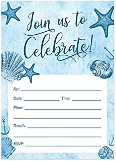 baby shower beach theme invitations