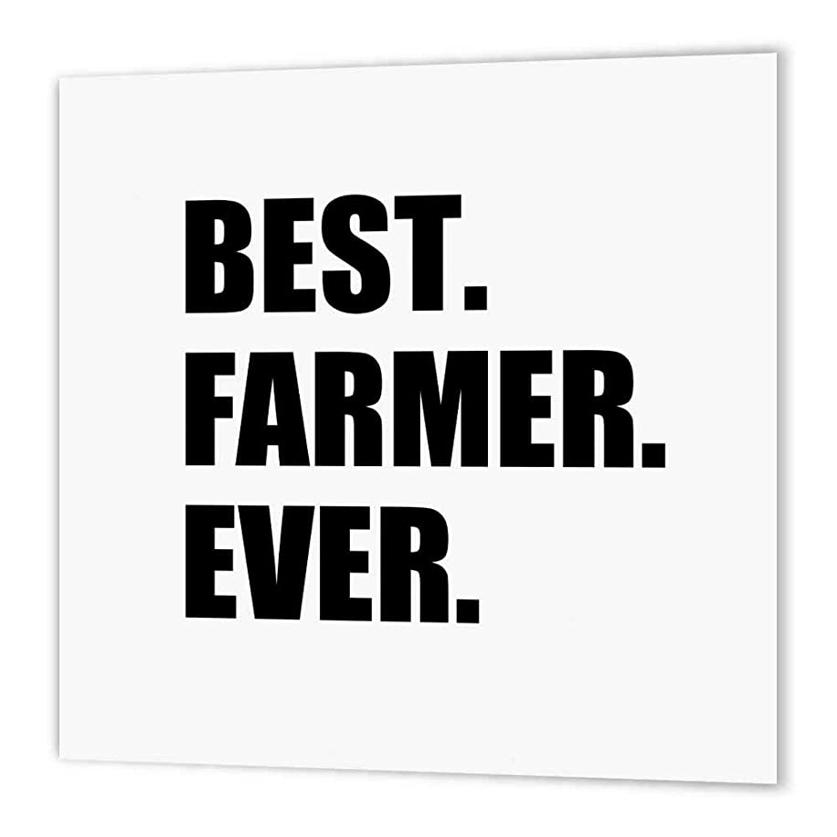 3dRose ht_184997_3 Best Farmer Ever Fun Gift for Farming Job Farm Black Text Iron on Heat Transfer Paper for White Material, 10 by 10