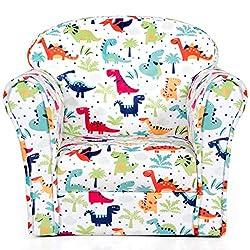 2. Costzon Kids Children Dinosaur Pattern Armrest Chair