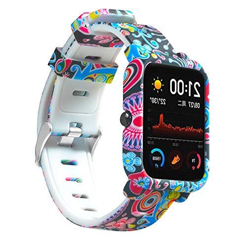 Correa y Funda Compatible con amazfit GTS /GTS 2, Pulsera smartwatch Duradera Correa de Repuesto de Reloj de Silicona (pavo)