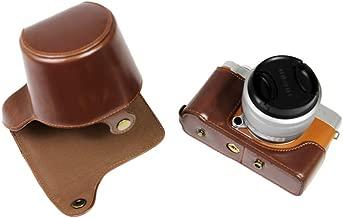FUJI X-A7 Case  kinokoo Camera Case Compatible for FUJI X-A7 and 15-45mm Lens with Shoulder Strap  fujifilm XA7 Protective Case Bag  Coffee