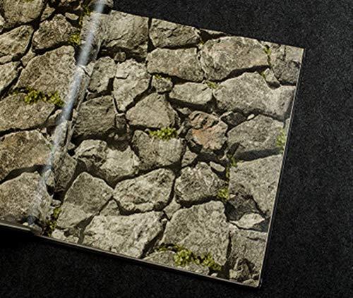 kengbi Fácil de decorar populares Duraderos Wallpapers 3D Estéreo Imitación Roca Piedra Papel pintado Para Paredes Sala TV Sofá Hotel Telón de fondo Papel de pared PVC Impermeable Papel de pared Rollo