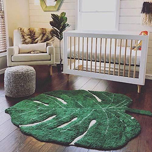 ZHOUAICHENG Baumwolle Baby Carpet Nordic blattform Baumwolle playmat für Kinder Dekoration Wohnzimmer Bereich Teppich tür Matte Kinder Spielzeug Decken,1.5m