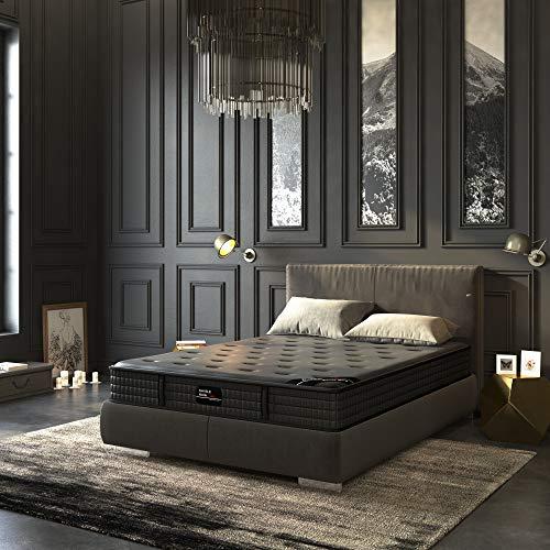 Savile Row No. 10 Premium Innerspring and Memory Foam Hybrid Tight Top 12-Inch Luxury Mattress, Twin