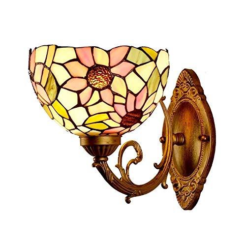 Qilo Lámparas de Pared Lámpara de Pared lámpara Retro Europeo Flor lámpara del Arte Sol con lámpara de la Sala de Estar Interruptor de cabecera del Dormitorio de la lámpara del Faro Espejo