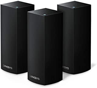 Linksys WHW0303B - Sistema Velop WiFi mesh tribanda para todo el hogar (router/extensor WiFi AC6600, sin interrupciones, c...