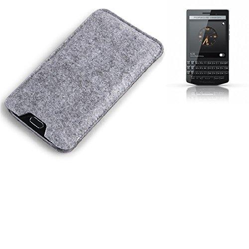 K-S-Trade® Filz Schutz Hülle Für BlackBerry Porsche Design P9983 Schutzhülle Filztasche Filz Tasche Case Sleeve Handyhülle Filzhülle Grau