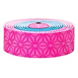 SUPACAZ ET RACE ONE Super Sticky Kush–Cinta Adhesiva para Manillar, Super Sticky Kush, Rose Néon/Bleu Néon