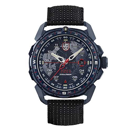 LUMINOX ICE SAR ARCTIC Herren Armbanduhr 46mm Edelstahlgehäuse und Armband Navy Blue (XL.1203): 200M wasserdicht + Saphirglas + bidirektionale drehbare Lünette