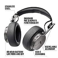House Of Marley Exodus ANC, Cuffie Over Ear Wireless con Riduzione del Rumore Regolabile, Auricolare Pieghevoli senza Fili con Bluetooth 5.0, fino a 28 Ore di Autonomia, Microfono Incorporato, Nero #1