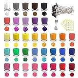 Lzshop-EU Tinte de Vela de 34 Colores, Copos de Tinte de Cera de Soja para Hacer Velas, Tinte de Cera de Color para Velas de Bricolaje, 5 g Cada Paquete