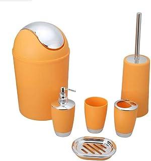 Funwill Bathroom Accessories Set 6 Pieces Plastic Bathroom Accessories  Toothbrush Holder, Rinse Cup, Soap