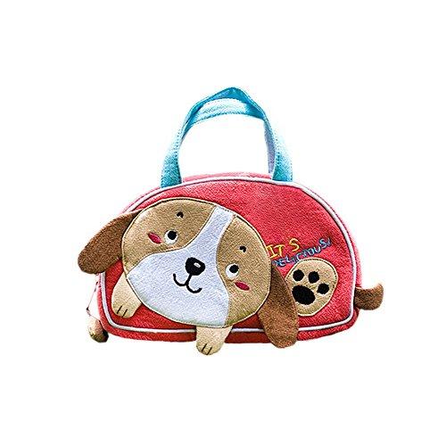 [Petit Chien] brodée Applique enfants Mini sac à main/sac de Cosmétique/Portefeuille de voyage (7.1 * 4.3 * 2)