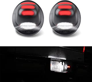 GemPro 2Pcs Red OLED Neon Tube LED License Plate Light Lamp Assembly For For Ford F-150 F-250 F-350 Superduty Ranger Pickup Truck Bronco Explorer Excursion Expedition