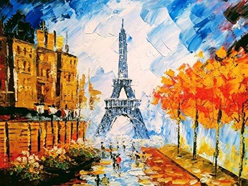 Puzzle 1.500 piezas, Rompecabezas de encastre de Madera, Puzzle Panorama, Obra de Arte de Juego de Rompecabezas para Adultos, Torre Eiffel