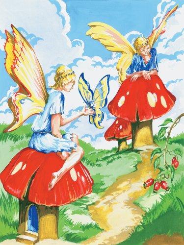 Royal & Langnickel PJS20 Peinture d'après les chiffres Taille A4 Fées des fleurs