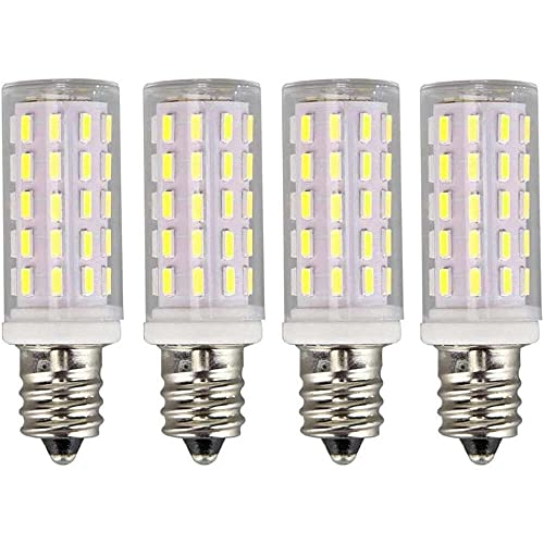 Gmasuber Bombillas LED E12 de 5 W, blanco frío, 6000 K, E12, base de candelabro, lámpara de techo, iluminación decorativa interior, 54 LED 4014 SMD, no regulable, 4 unidades