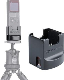 """Cooerのデスクトップチャージャーベース充電ステーションスタンドマウント、1/4""""穴付きハンドヘルドジンバルホルダー、2タイプCポートに対応DJI Osmo Pocketスタビライザーアクセサリーに対応"""