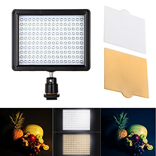 Andoer 160 LED Video Light Lamp Panel 12W 1280LM Dimmable für Canon Nikon Pentax DSLR Camera Video Camcorder