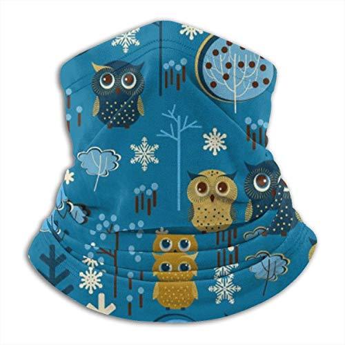 Cartoon Eule Unisex Mikrofaser Nackenwärmer Kopfbedeckung Gesicht Schal Maske Bandana Sturmhaube Winter Wetter Maske