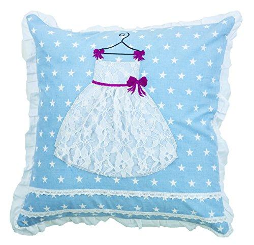 Rizzy Home Vestido de Princesa de–cojín Decorativo, Color Blanco, 18x 18
