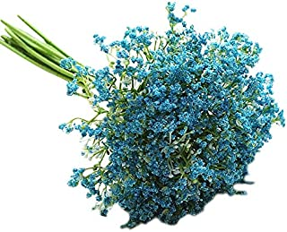 Xigeapg Blue Plastic Hand-Painted Starry Night Primrose Artificial Flower Home Decoration Ornaments Photography Props Manual DIY