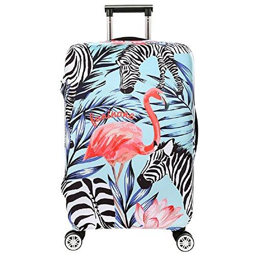 Kofferhülle Flamingo Elastisch Kofferhülle in Flamingo Form 18-32 Zoll Kofferschutzhülle Gepäck Cover Reisekoffer Hülle Kofferschutz Luggage Cover Gepäckabdeckung (Flamingo 4, XL)