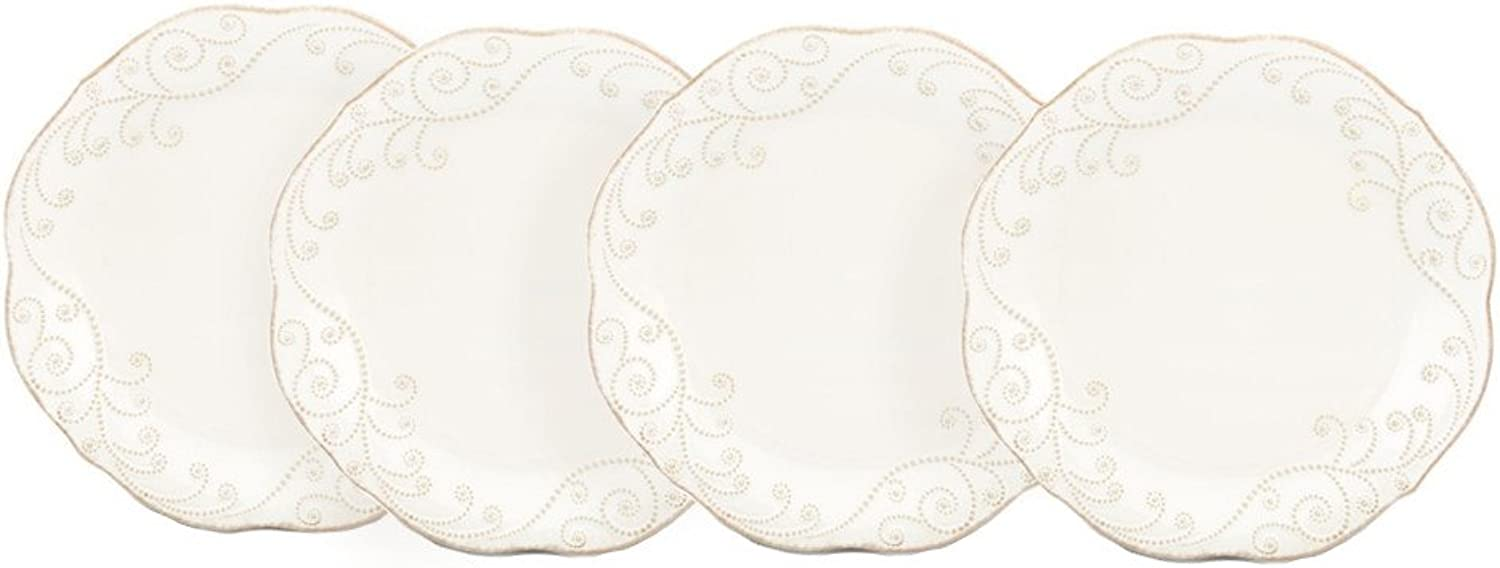 Lenox French Perle White 11 Inch Dinner Plate, Set of 4