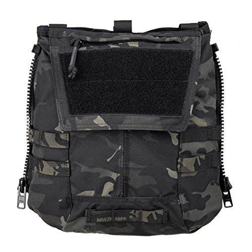 IDOGEAR Tactical Zip-on Panel Pouch Military Backpack Vest Accessory Bag for CPC AVS JPC2.0 (B:Multicam Black)