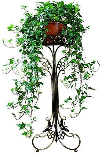 ZJN-JN Estantes Flores Hierro-Arte de la Flor Estante Cubierta Balcón Anti - Moho Soporte de la Planta (Color: Bronce) Decoración del Ornamento Pot Adornos