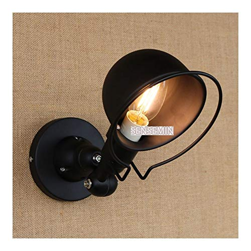Klassische Wandlampe Wandleuchte mechanischer Arm Frankreich Jieldé Wandleuchte Reminisce Retractable Doppel Vintage-Folding Rod ohne Schalter Glanz ZHAOMIHU (Lampshade Color : Black)