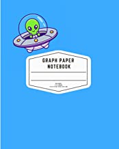 Alien Graph Paper Composition Notebook: Quad Ruled 4x4 Grid Paper for Math & Science: UFO Graph Composition Notebook for T...