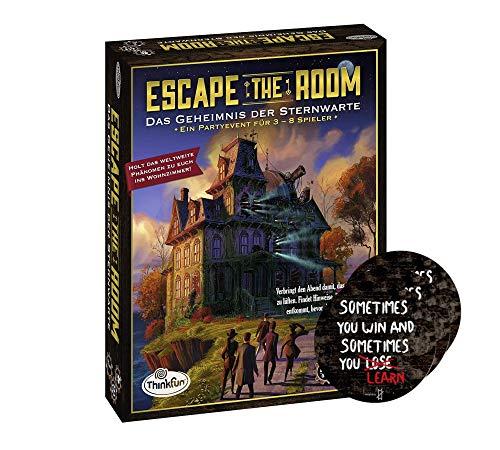 ThinkFun Escape The Room - Juego de 3 pegatinas de Exit (texto en alemán)