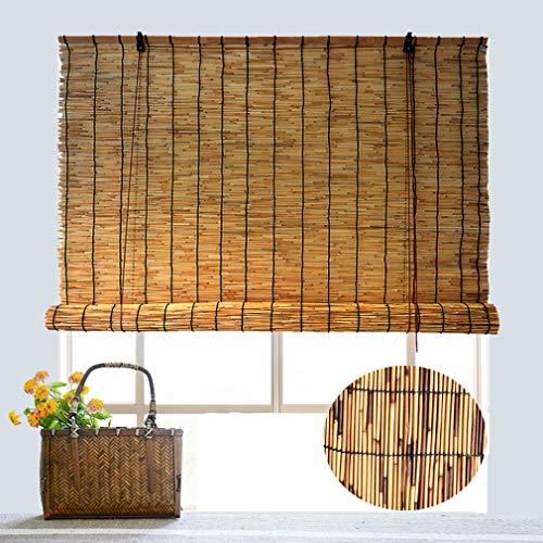 Geovne Fenster Sichtschutz Rollos,Bambusvorhang Schilf Vorhang,für Fenster/Tür/Terrasse,Carport Roll-Up-Sonnenschutz,Anpassbar (60x90cm/24x36in)