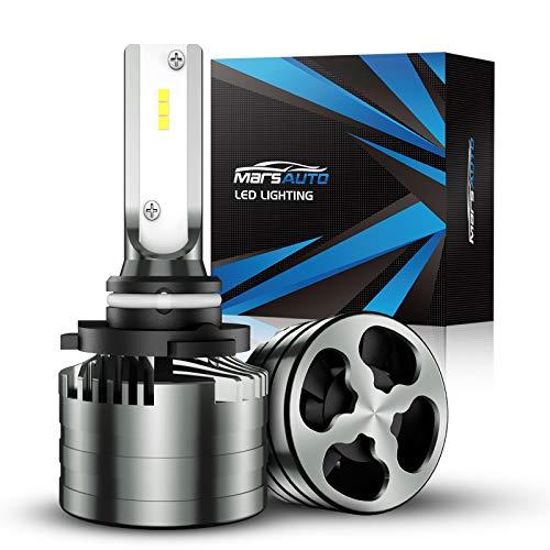 Marsauto 9006/HB4 LED Bulbs,16000LM Brightness 6000K Xenon White , Aluminum Alloy M2 Series LED Light Bulb Conversion Kit with 12000RPM Turbo Fan