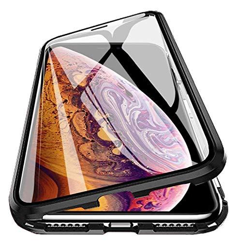 PfX 360° Magnetische Hülle 2.0 aus Aluminium inklusive Panzerglas Front geeignet für iPhone 12/12 Pro - Verbesserte Version 2020 - (iPhone 12/12 Pro)