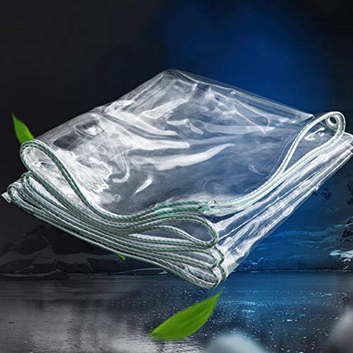Lona Transparente Reforzada,Cubierta de Planta de Lona de Protección Impermeable 0,4mm,Tela de Plástico PVC Invernadero Jardín Toldo Resistentes UV Y A Intemperie para Cortinas (1.4x3m/4.5x10ft)