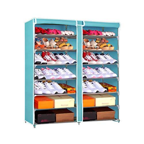 Zapatero Estante for zapatos de 7 capas con guardapolvo Armario for zapatos Gabinete de almacenamiento Longitud del gabinete 118 cm * Ancho 29.5 cm * Altura 123.5 cm Zapatos Estante de Almacenamiento