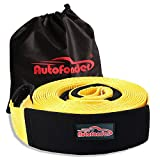Autofonder Tow Strap 3inch x 30ft -30.000 LBS (12 TON) Heavy Duty Vehicle Tow Recovery Strap Kit with Reinforced Loops Protective Water Resistant Sleeves Emergency Towing Rope Off Road Truck Accessory