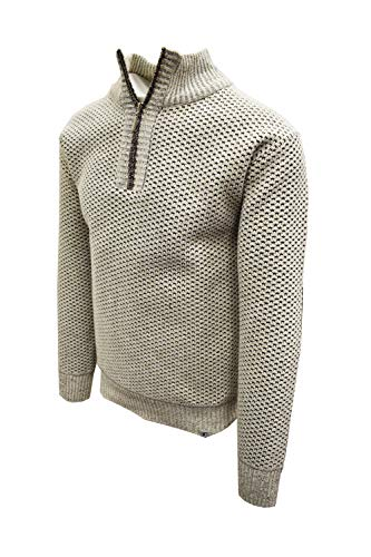 STACY ADAMS Men's Modern Casual Knitted Assorted Soft Sweaters (XXL, Oatmeal)