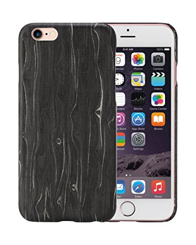 iPhone 6 Plus/iPhone 6s Plus Cell Phone Case Ultra Silm 1mm 5.5 Inch PITAKA Aramid Black Ice Wood Cover