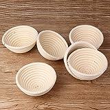 Bujingyun Banneton-Brotform, rund, Rattan-Bannetform, Brotform, Brotform, Brotform, Brotform, 6 Stück - 4