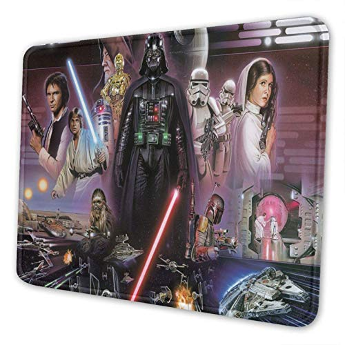 XCNGG Alfombrilla para ratón Sta_r Wa_r_s Stormtrooper_s Dart_h Vade_r Mouse Pad Mat Gaming Unique Custom Mousepad, Computer Keyboard, Stitched Edges, Office Ideal for Desk Cover, Large Mouse Pats, La