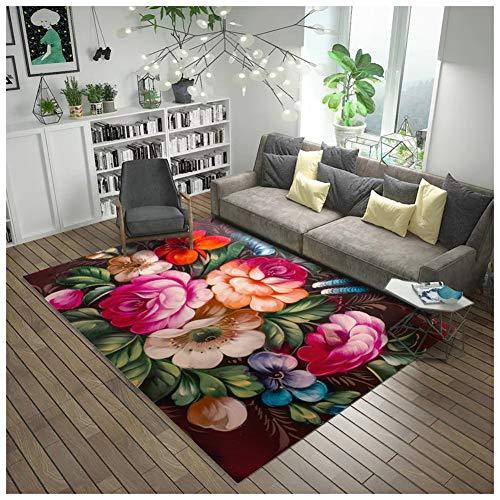 SEMOPAWA Alfombra Antideslizante Interior para Dormitorio, Nueva Alfombra Impresa, Sala De Estar,...