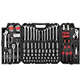 Eastvolt 248 Pieces Mechanics Tool Set, General Purpose Mixed Sockets and Wrenches, Hand Tool Set Auto Repair Tool Kit with Storage Case (EVHT24801)