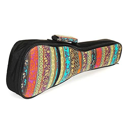 21/23/26 Zoll Doppelband Weiche Gepolsterte Oxford Tuch Ukulele Gig Bag Musical Saited Instrumentenhalter Zubehör Organizer (Size : 26 inches)