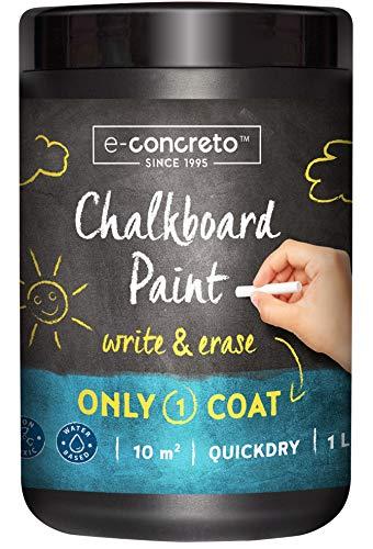 e-concreto Pittura Lavagna 1L Nero + Gesso | Vernice per Lavagna