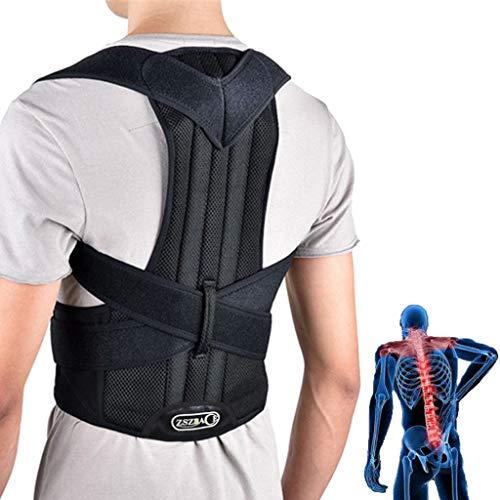 ZSZBACE Rückenstütze für Männer - Verstellbare Haltungsstütze Bietet Lordosen- und Rückenstütze - Richten Sie die Wirbelsäule korrekt aus - Schützen Sie den Rücken vor weiteren Verletzungen (XL)