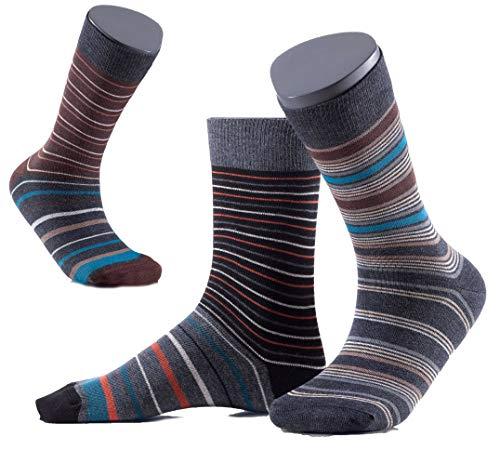 Gatta FUNKY Socken - farbig-bunt gestreift-gemusterte elegante Herrensocken - 3er Pack - Größe 39-41