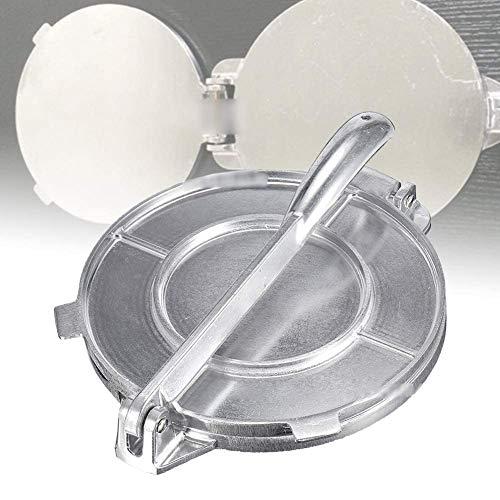 JUANstore Tortilla Makers da 8 Pollici in Alluminio Pressofuso Tortilla Utensili Premere per Farina di Mais Taco Stampa E Pane,Argento